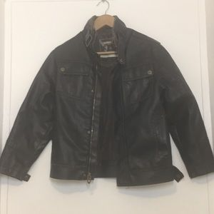 Boys Bomber jacket Hawke & co brown size 8